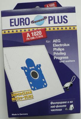 Торби за прахосмукачки PHILIPS, ELECTROLUX (Europlus  A 1020)