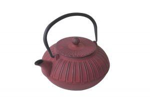 Чайник от чугун, червен, 0,85Л (ВАМ251)