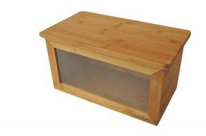 Бамбукова кутия за съхранение на хляб, голяма (ВАМ184)